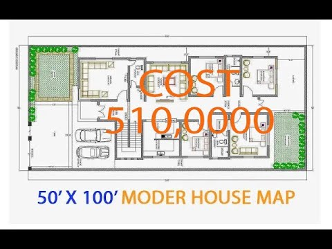 50x100 House Plan Ever 3 Bhk House Map 2019 Youtube