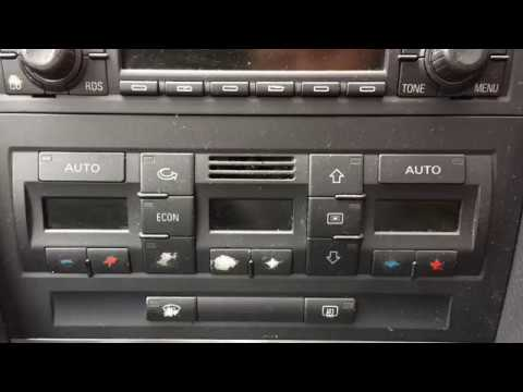 Audi A4 B6b7 How To Renew Climate Control Unit Renovation Youtube