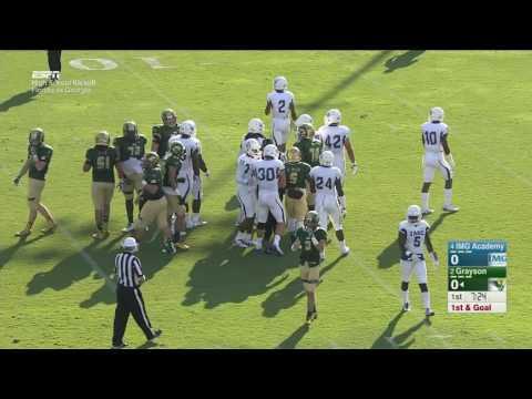 NFHS 2016   Week 01   28 08 2016    IMG Academy Ascenders FL vs  Grayson Rams GA