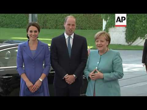UK Royals arrive at German Chancellery