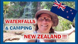 Karekare Falls near Auckland New Zealand & Camping in the Rain!