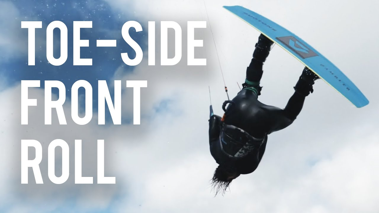 Toe-side Front Roll Kiteboarding - Tricks of the Trade with Tom Court