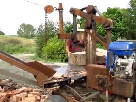 how to build a manual log splitter