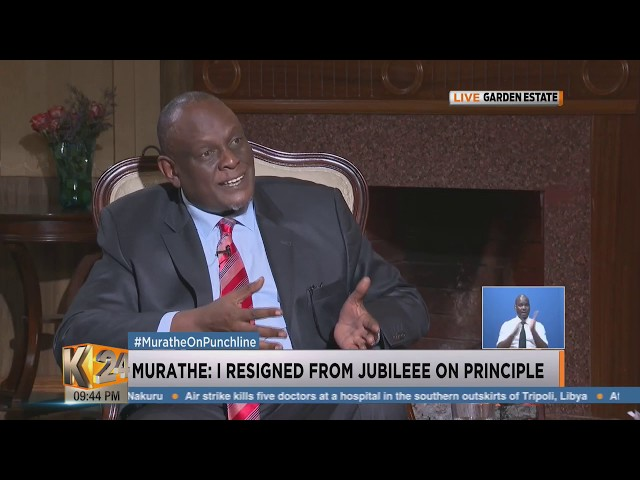 #MuratheOnPunchline:  I resigned on principle. (pt1)