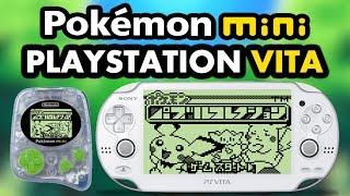 PS Vita Pokemon Mini Emulator! (Adrenaline!)