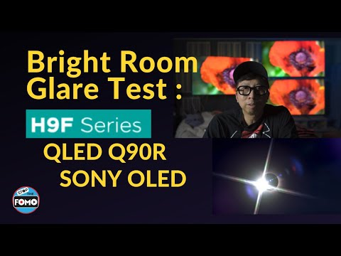 Bright Room Watching NETFLIX: Hisense H9F reviewed vs. OLED vs QLED