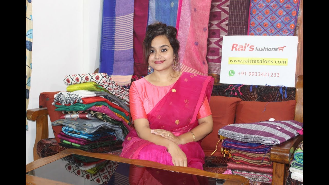 Shop From Rai S Fashions Latest Handloom Designer Sarees Online 6th May 2019 Youtube