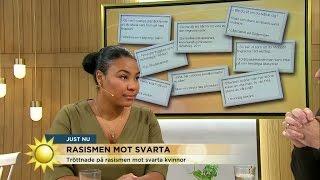 Svart kvinna - från instagramkonto till bok - Nyhetsmorgon (TV4)