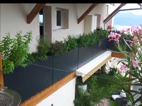 bacs plantes sur mesure image 39 in am nagement d 39 un balcon terrasse en suisse youtube. Black Bedroom Furniture Sets. Home Design Ideas
