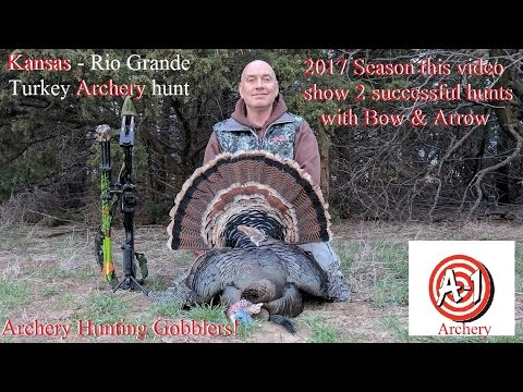 Kansas Rio Grande Turkey Bow & Arrow hunt both tags filled in this video Impact