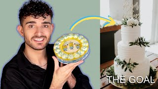 Turning A CHEAP Grocery Store Cake Into A Wedding Cake