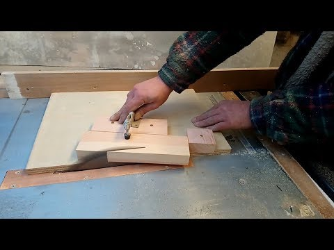 Cutting Wedge Shaped Shelf Brackets on the Table Saw