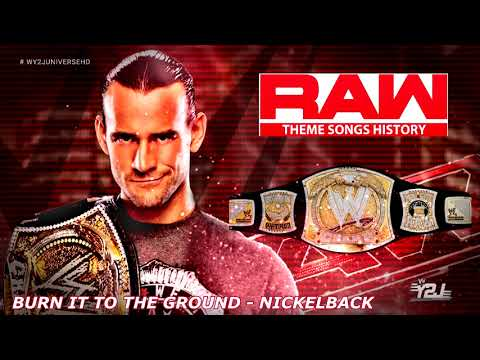 """WWE RAW 2009-2012 Theme Song - """"Burn It To The Ground"""" by Nickelback"""