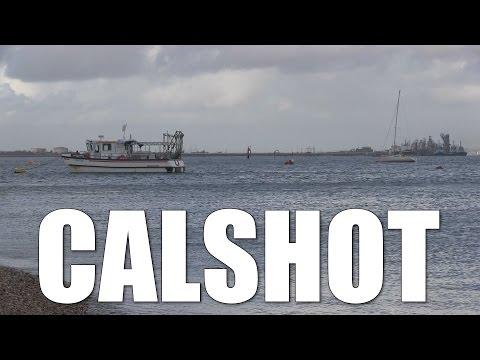 Calshot - Solent Beach Fishing Mark In Hampshire, England, UK