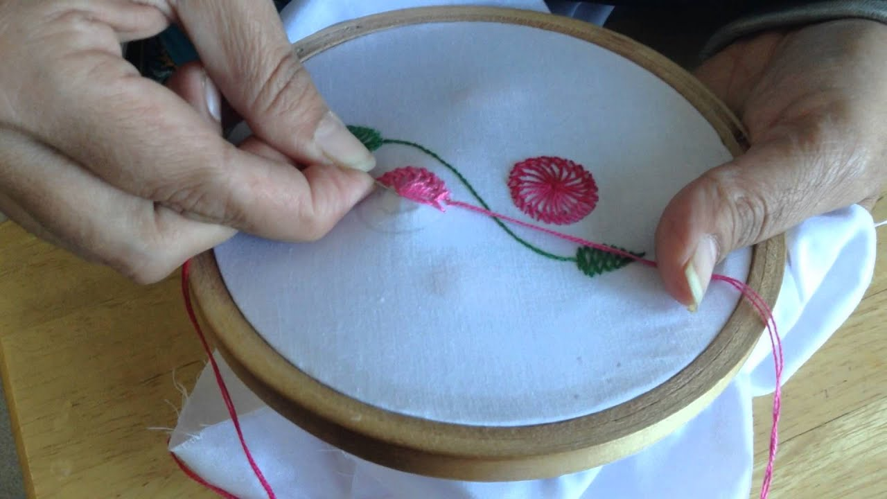 Hand embroidery chemanthy work youtube