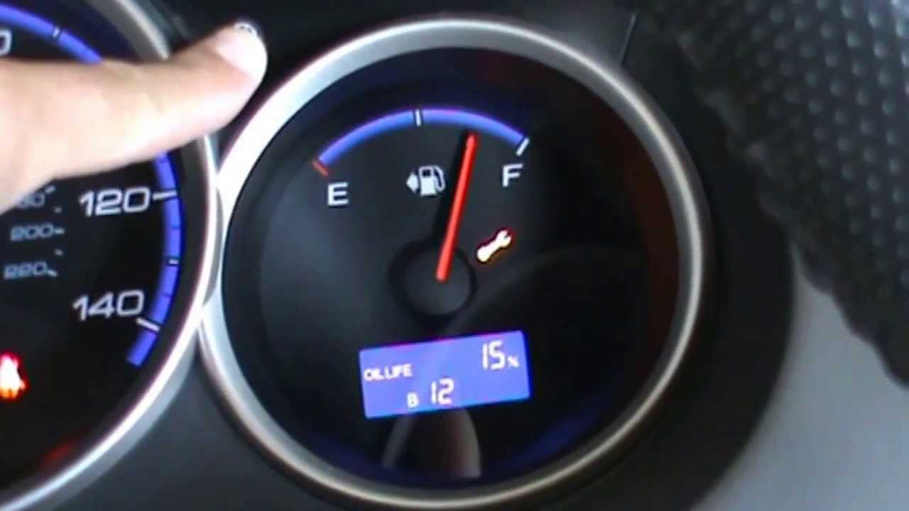 Honda check engine wrench on dashboard Oil life light - YouTube