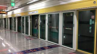 【韓国】 光州都市鉄道1号線 松汀公園駅  광주 도시철도 1호선 송정공원역 Gwangju Metro Line 1 Songjeong Park Station, Korea (2019.8)