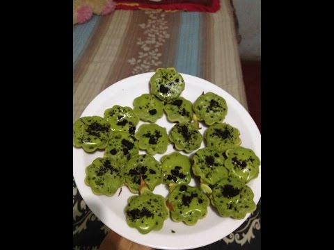 RESEP KUE CUBIT GREEN TEA OREO SEDERHANA - YouTube