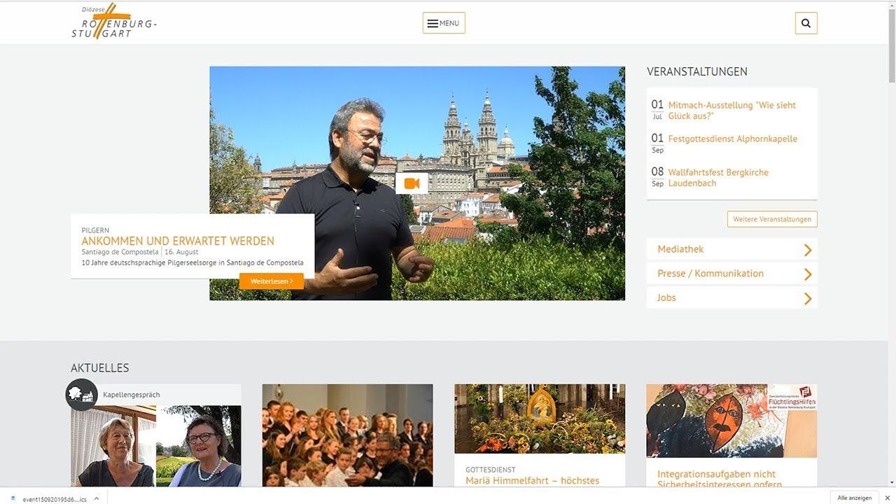 Kurz erklärt: Die neue Webseite der Diözese Rottenburg-Stuttgart