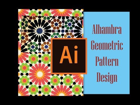 geometric pattern design - Adobe  Illustrator Tutorial - Alhambra Mosaic Tile thumbnail