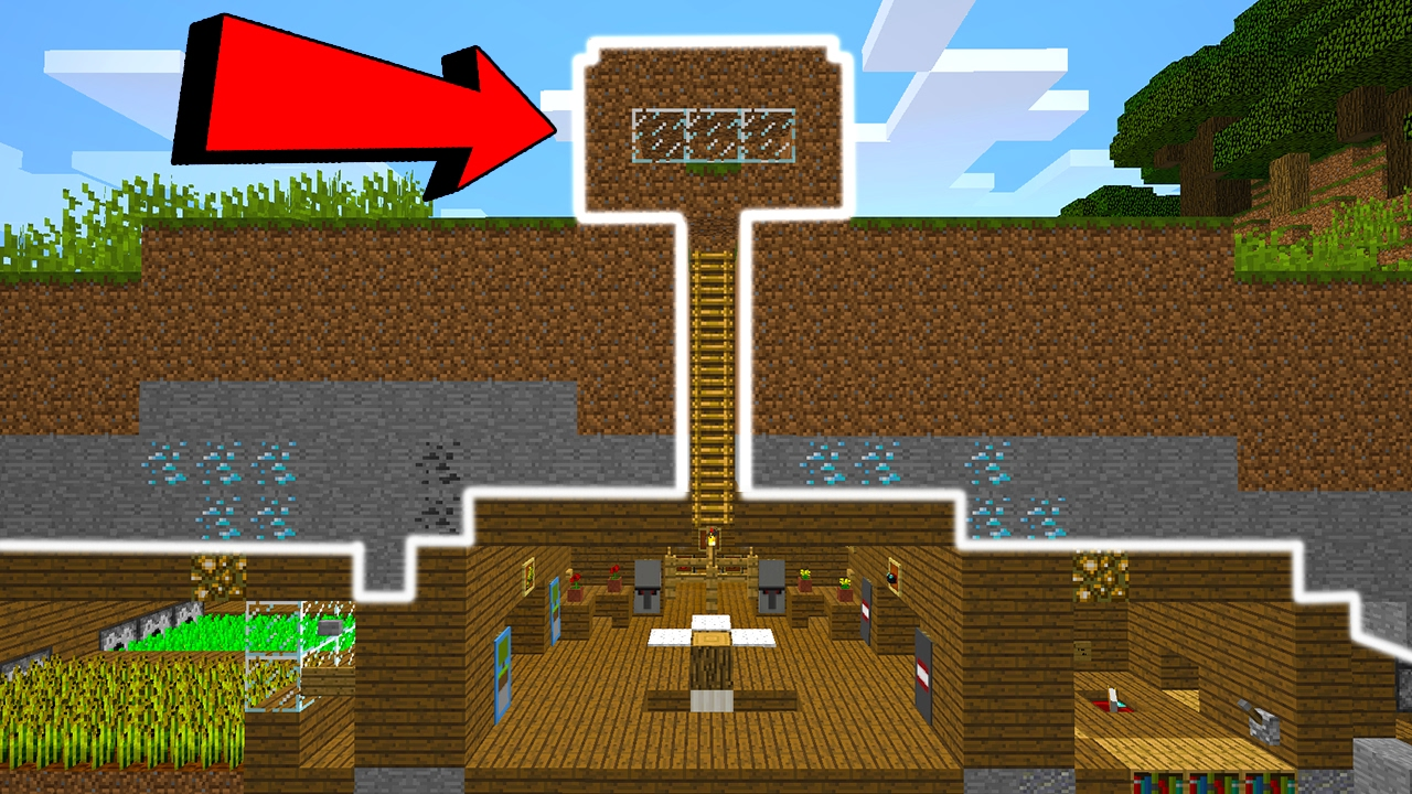 Casa de terra secreta no minecraft youtube for Minecraft videos casas