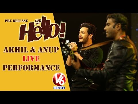 Akhil & Anup Rubens Live Performance At HELLO Pre Release Event | V6 News