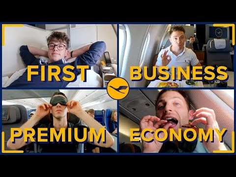 Flying With LUFTHANSA In All Four Classes: First Class, Busi