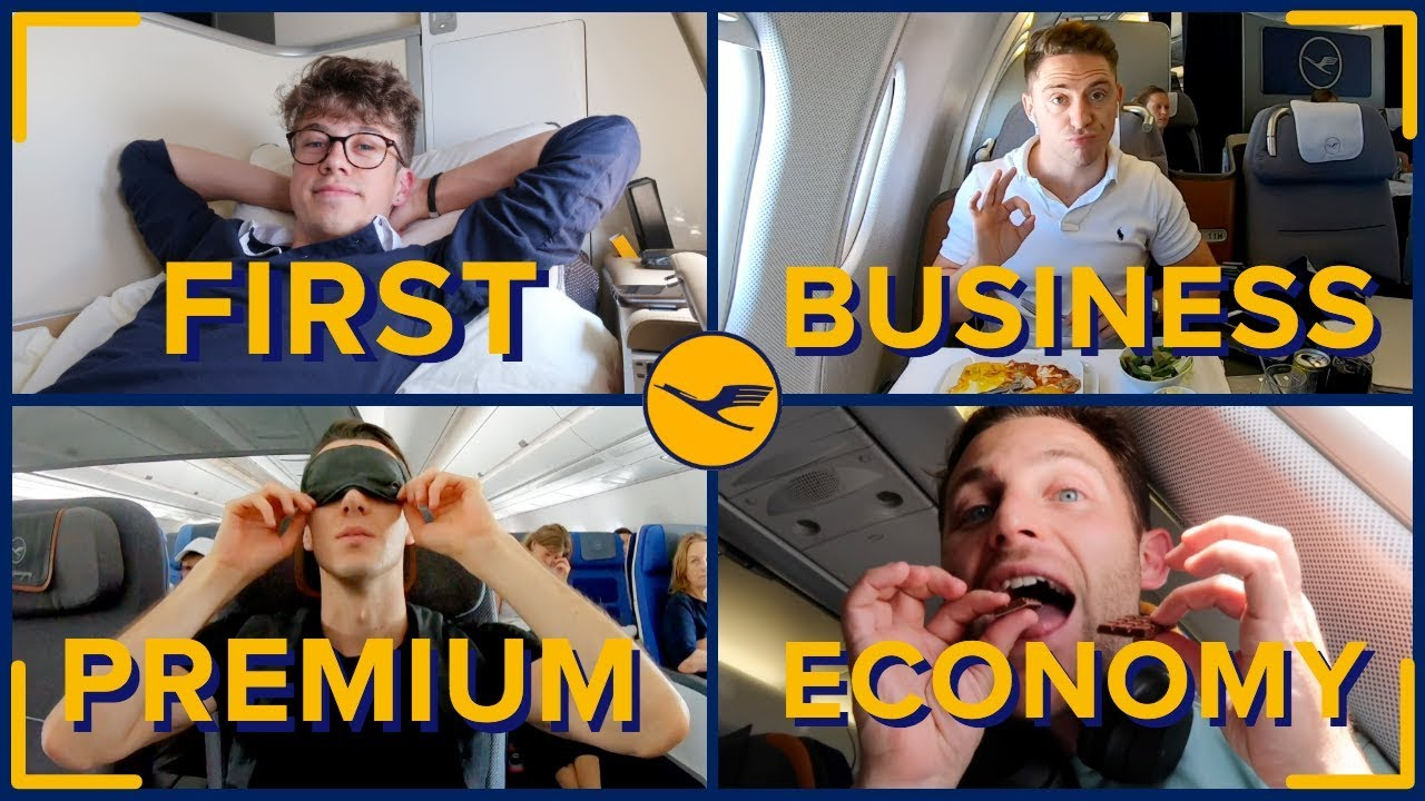 Flying With LUFTHANSA In All Four Classes: First Class, Business, Premium & Economy