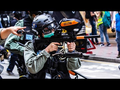 Cops Use Paintball Guns During Protests