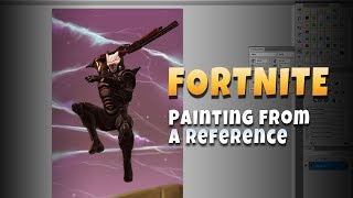 Fortnite Omega Skin [Painting from a Reference Art Commentary]