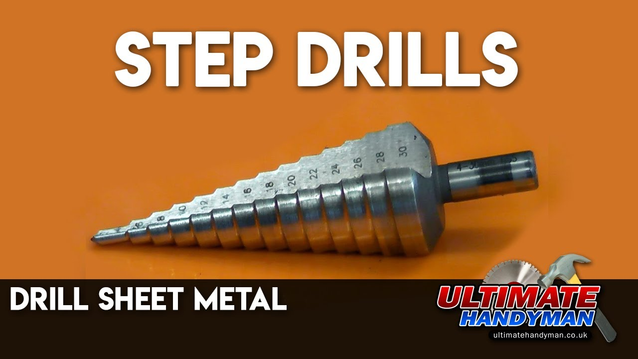 Step drills | drill sheet metal - YouTube