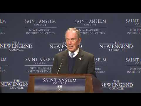 Raw video: Michael Bloomberg delivers remarks at Saint Anselm College