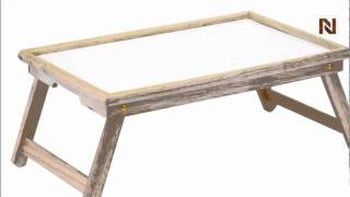 Winsome Breakfast Bed Tray, With Notched Handle 98821
