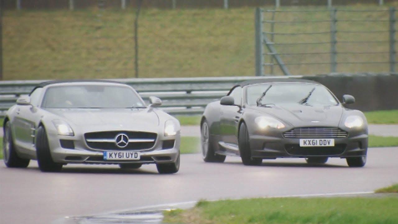 fifth gear: aston martin vs mercedes sls sportster - youtube