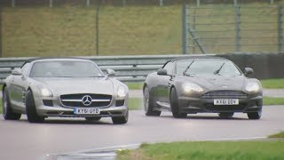 Fifth Gear Aston Martin Vs Mercedes SLS Sportster смотреть