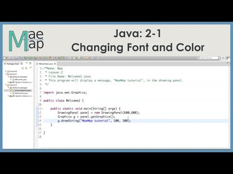 Java 2 1 Changing Font And Color