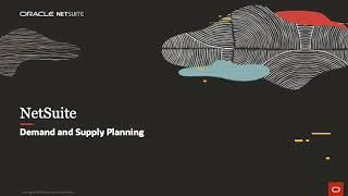 NetSuite Demand and Supply Planning