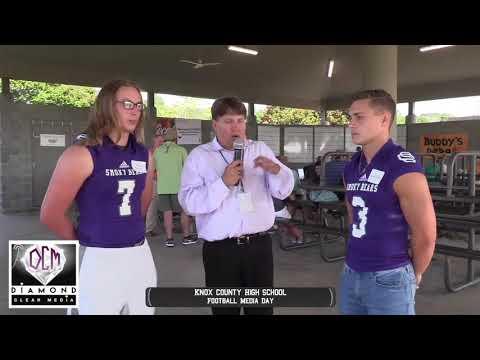Sevier County players Interview Jeffery Bersch & Dillon Hicks Smoky Bears Football Media Day 7-14-17