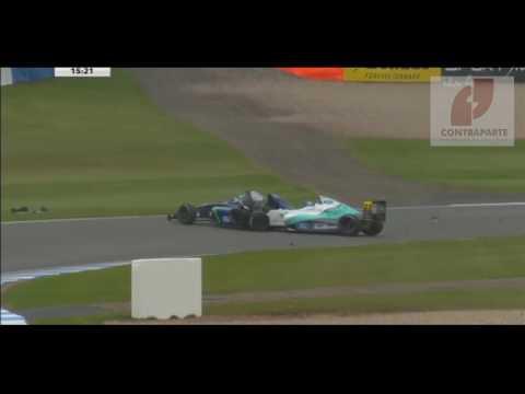 Espeluznante accidente del piloto Billy Monger en la Fórmula 4 británica