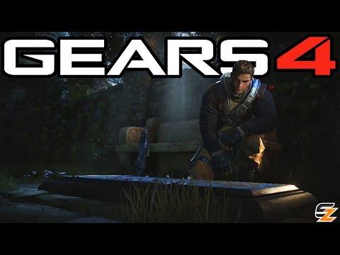 Gears of War 4 - Anya Stroud Grave Secret Cutscene! (Gears of War 4 Campaign Anya Stroud Death)