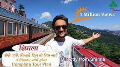 Shimla tour with places | shimla tour plan | shimla tour budget | shimla tour guide