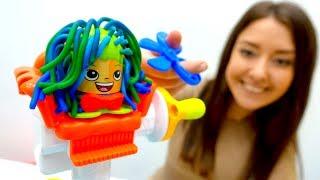 Видео для детей. Веселая школа. Делаем причёски.
