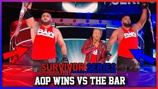 Raw Tag Team Champions AOP Vs SmackDown Tag Team Champions The Bar (WWE Survivor Series Results)