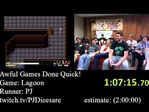 Lagoon SNES: 1:45:24.99 SPEED RUN by PJ - Awesome Games Done Quick 2012 - SDA