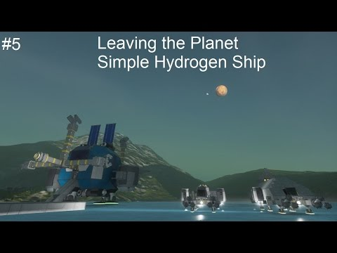 Leaving the planet Simple Hydrogen Ship - Saindo do planeta - Space Engineers Planets Tutorial #5
