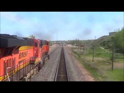 REAR VIEW - Amtrak's Empire Builder - Through North Dakota & Montana (incl. Havre)
