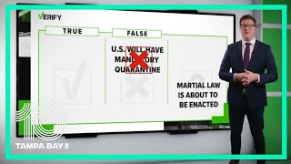 VERIFY False messages about mandatory quarantines and martial law 10 Tampa Bay