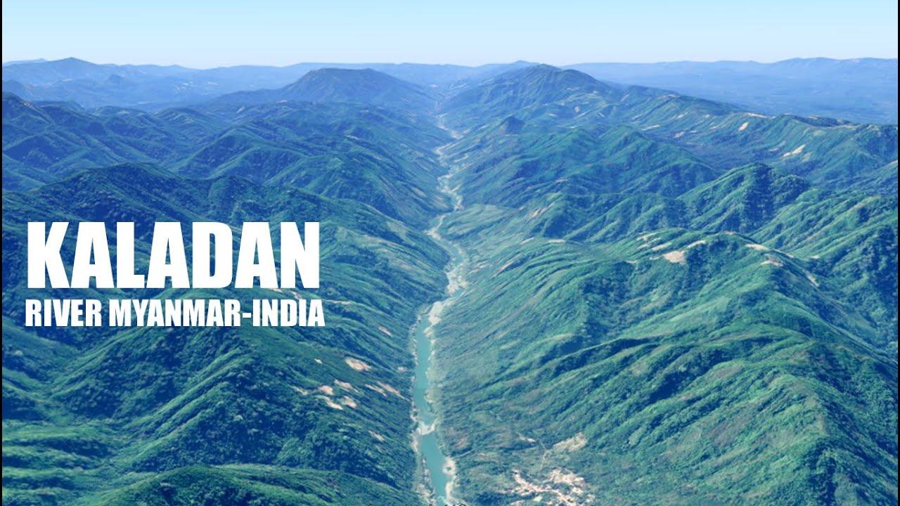 Download The Kaladan River Myanmar and Chhimtuipui in India ကုလားတန်မြစ် aerial tour