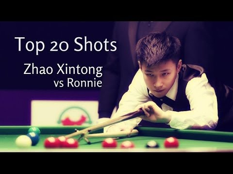 Top 20 Skills By The Chinese Stars!!! ZHAO XINTONG vs Ronnie O'Sullivan 2016 Snooker Club