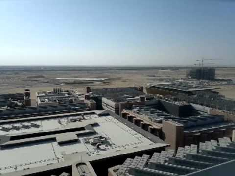 Masdar City View from MI Wind Tower